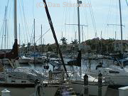 Ideal sailboat harbor
