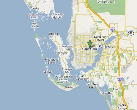 Cape Coral Florida Map.Cape Coral Waterfront Freshwater Vs Saltwater Boating Run Lengths