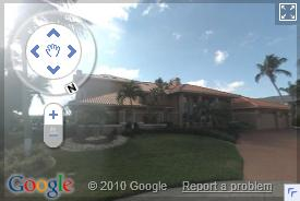 Click on image to view Google Street view images of South Cape Coral, Florida (opens in a pop up window)
